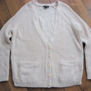 Topshop Oversize Cream Knit Cardigan Sweater